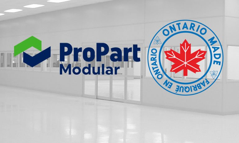 ProPart Modular is Now Ontario Made Certified