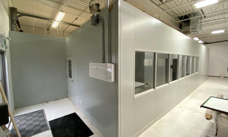 ProPart Modular's Clean Room For PPE Niagara