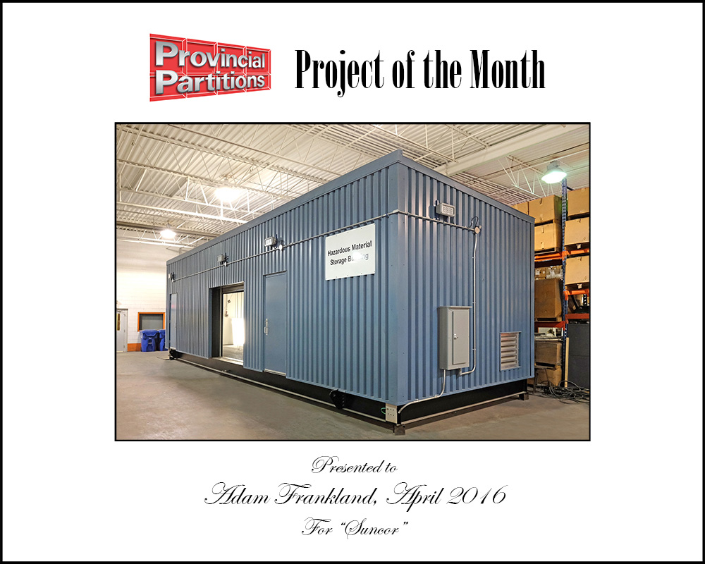Project Of The Month - Custom Hazardous Material Enclosure